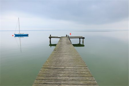 sailing boat storm - Sailboat and Dock, Lake Chiemsee, Bavaria, Germany Stock Photo - Rights-Managed, Code: 700-03738995