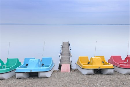 Paddleboat and Dock on Lake Chiemsee, Bavaria, Germany Stock Photo - Rights-Managed, Code: 700-03738992