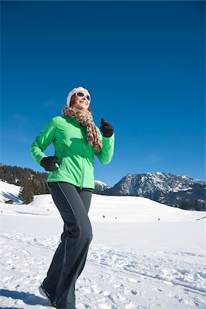 Woman Exercising Outdoors in Winter Stock Photo - Rights-Managed, Code: 700-03739208