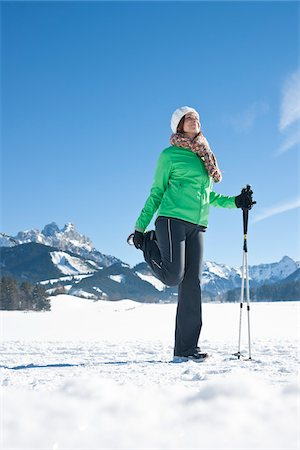 Woman Stretching Outdoors in Winter Stock Photo - Rights-Managed, Code: 700-03739211