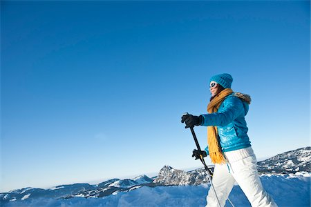 Woman Cross Country Skiing Stock Photo - Rights-Managed, Code: 700-03739225