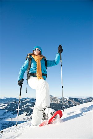 Woman Snowshoeing Stock Photo - Rights-Managed, Code: 700-03739226