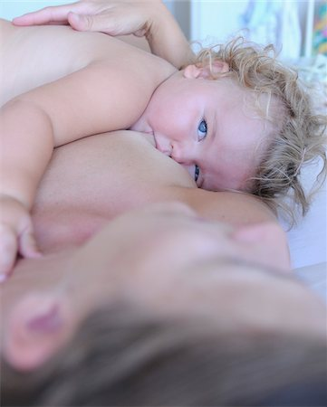 Woman Breastfeeding Toddler Stock Photo - Rights-Managed, Code: 700-03739290