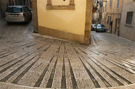 Steep Street, Salemi, Province of Tarpani, Sicily, Italy Stock Photo - Rights-Managed, Code: 700-03739355