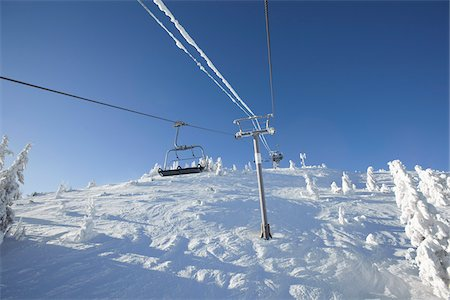 Chair Lift at Ski Resort Stock Photo - Rights-Managed, Code: 700-03739359