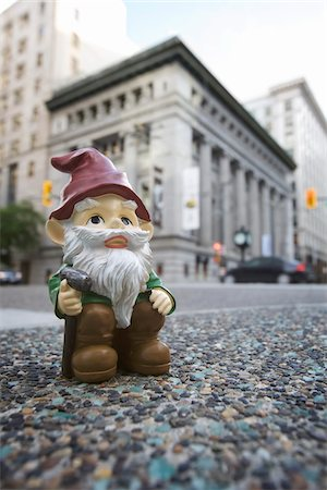 dwarf - Gnome in City Stock Photo - Rights-Managed, Code: 700-03739481