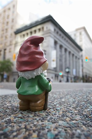dwarf - Gnome in City Stock Photo - Rights-Managed, Code: 700-03739482