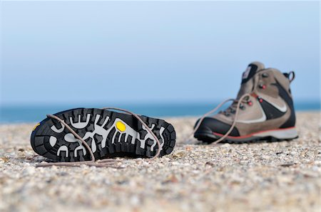 sole - Hiking Boots on Beach Stock Photo - Rights-Managed, Code: 700-03766832