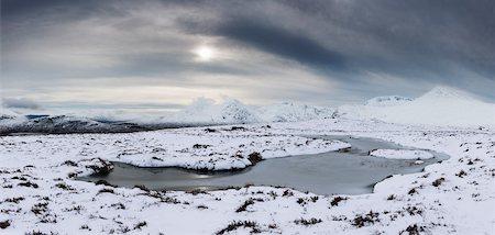 panoramic winter scene - Rannoch Moor in Winter, Scotland Stock Photo - Rights-Managed, Code: 700-03768722