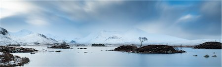 panoramic winter scene - Storm Clouds and Lake, Rannoch Moor, Scotland Stock Photo - Rights-Managed, Code: 700-03768723