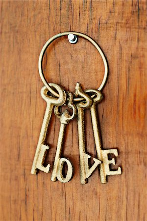 Keys with Love Spelled Out Stock Photo - Rights-Managed, Code: 700-03762617