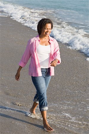 Woman Walking on Beach Stock Photo - Rights-Managed, Code: 700-03762648