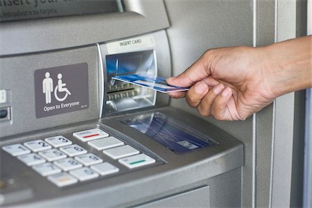 Close-Up of Woman Using ATM Stock Photo - Rights-Managed, Code: 700-03762694