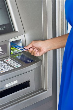 Woman Using ATM Stock Photo - Rights-Managed, Code: 700-03762693