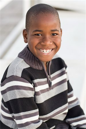 Portrait of Boy Wearing Striped Sweater Stock Photo - Rights-Managed, Code: 700-03762735