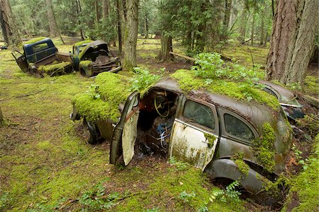 earth no people - Car Graveyard, Valdes Island, British Columbia, Canada Stock Photo - Rights-Managed, Code: 700-03777065