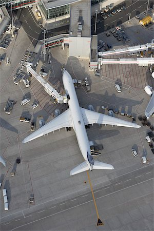 Aerial View of Airplane at Airport, Lester B. Pearson International Airport, Toronto, Ontario, Canada Stock Photo - Rights-Managed, Code: 700-03777105