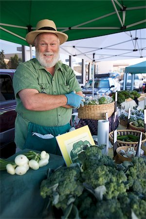 Portrait of Vendor at Farmer's Market Stock Photo - Rights-Managed, Code: 700-03777186