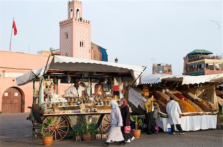 Fruit Vendor, Djemaa el Fna, Marrakesh, Morocco Stock Photo - Rights-Managed, Code: 700-03778099
