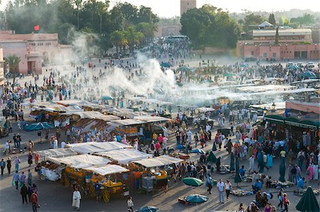 Crowds at Djemaa el Fna, Marrakech, Morocco Stock Photo - Rights-Managed, Code: 700-03778118