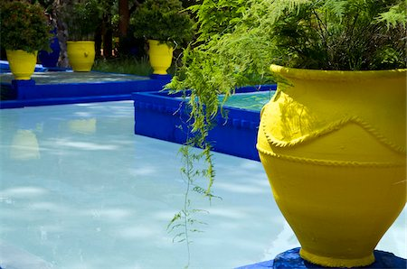 Jardin Majorelle, Marrakech, Morocco Stock Photo - Rights-Managed, Code: 700-03778125