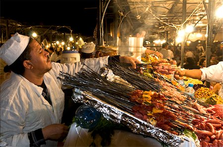 Cook Selling Food at Djemaa el Fna, Marrakech, Morocco Stock Photo - Rights-Managed, Code: 700-03778136
