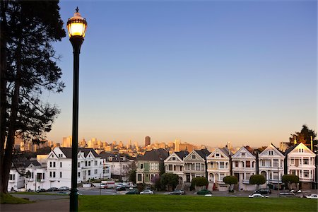 """""""Painted Ladies"""" and City Viewed from Alamo Square, San Francisco, California, USA Stock Photo - Rights-Managed, Code: 700-03778203"""