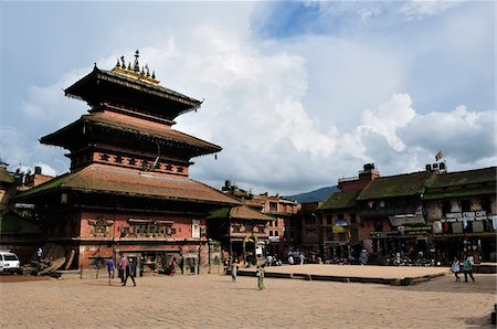 Bhairav Temple in Durbar Square, Bhaktapur, Bagmati, Kathmandu Valley, Nepal Stock Photo - Rights-Managed, Code: 700-03778219