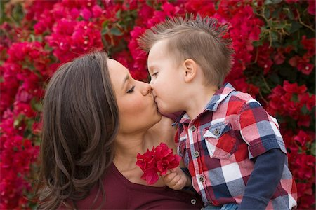 Mother and Son Kissing Stock Photo - Rights-Managed, Code: 700-03778515