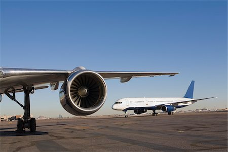 Airplanes on Runway Stock Photo - Rights-Managed, Code: 700-03778512
