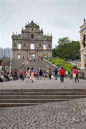 portuguese (places and things) - Ruins of St Paul's, Macau, China Stock Photo - Rights-Managed, Code: 700-03778560