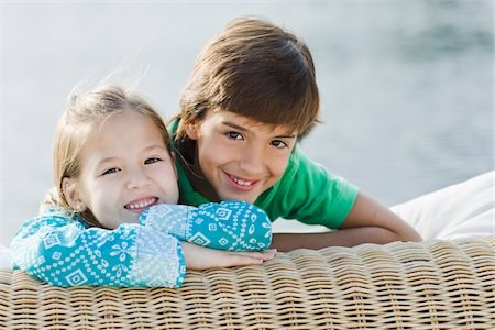 Portrait of Brother and Sister Outdoors Stock Photo - Rights-Managed, Code: 700-03778633