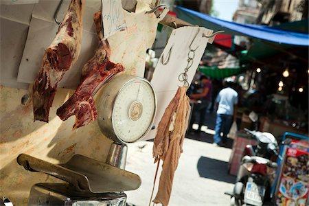 Butcher Shop at Vucciria Market, Vucciria District, Palermo, Sicily, Italy Stock Photo - Rights-Managed, Code: 700-03778683