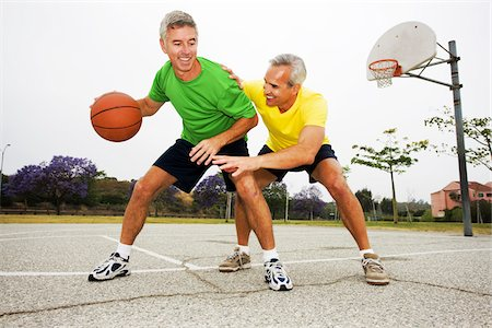 Two Men Playing Basketball Stock Photo - Rights-Managed, Code: 700-03784264