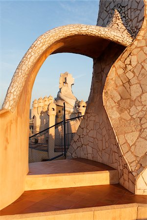decorative - Casa Mila, Bacelona, Catalunya, Spain Stock Photo - Rights-Managed, Code: 700-03787497