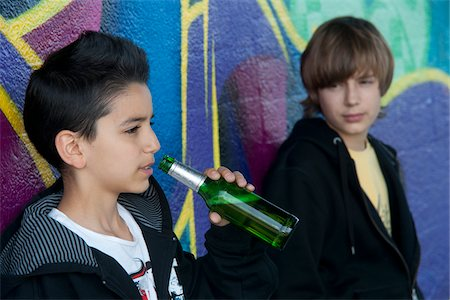 Young Teen Boys Drinking Beer Stock Photo - Rights-Managed, Code: 700-03787575