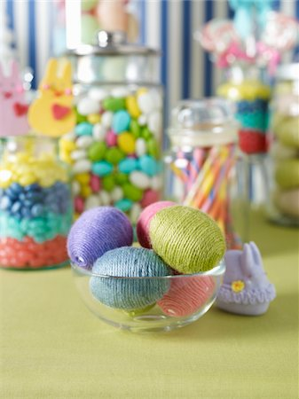 Easter Decorations and Candy Stock Photo - Rights-Managed, Code: 700-03799479