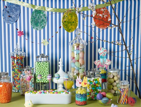 Easter Decorations and Candy Stock Photo - Rights-Managed, Code: 700-03799482