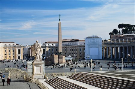 St Peter's Square, Vatican City, Rome, Italy Stock Photo - Rights-Managed, Code: 700-03799574