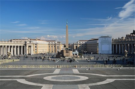 St Peter's Square, Vatican City, Rome, Italy Stock Photo - Rights-Managed, Code: 700-03799575