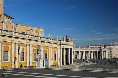 St Peter's Square, Vatican City, Rome, Italy Stock Photo - Rights-Managed, Code: 700-03799576
