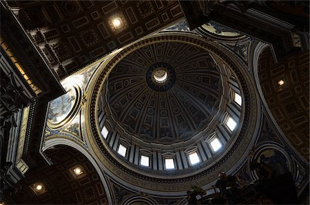 Interior of St Peter's Basilica, Vatican City, Rome, Italy Stock Photo - Rights-Managed, Code: 700-03799577