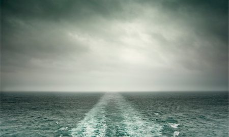 sailing boat storm - Storm Clouds and Wake from Stern of Ship Stock Photo - Rights-Managed, Code: 700-03805282