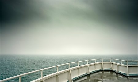 dreamy - Stormy Clouds and Rough Sea from Ship's Deck Stock Photo - Rights-Managed, Code: 700-03805283