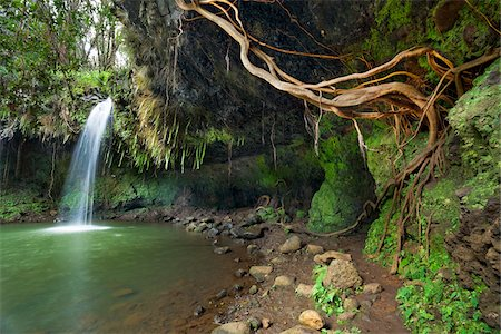 Twin Falls along Hana Highway, Maui, Hawaii Stock Photo - Rights-Managed, Code: 700-03805482