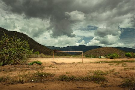 Dirt Football Field, near Pacoti, Ceara, Brazil Stock Photo - Rights-Managed, Code: 700-03808842