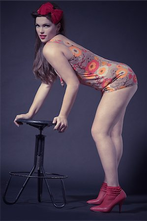 Pin Up Girl Wearing Bathing Suit Stock Photo - Rights-Managed, Code: 700-03814107