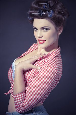 Portrait of Pin-Up Girl Stock Photo - Rights-Managed, Code: 700-03814103