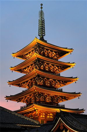 Senso-Ji Temple Pagoda, Tokyo, Kanto, Honshu, Japan Stock Photo - Rights-Managed, Code: 700-03814275