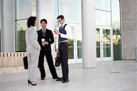 southeast asian ethnicity - Business People Talking Outside of Office Building Stock Photo - Rights-Managed, Code: 700-03814352
